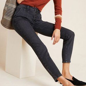 Pilcro button fly ultra high rise skinny jeans 26